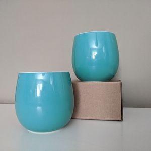 Davids Tea Set of 2 Ceramic Bubble Tea Cups